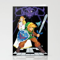 hyrule Stationery Cards featuring Hero of Hyrule by Juan Fernando Garcia