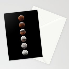 super blood moon pearly necklace Stationery Cards