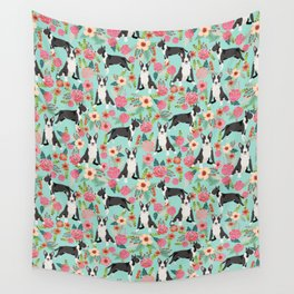 Bull Terrier floral dog breed gifts pet pattern by pet friendly bull terriers Wall Tapestry