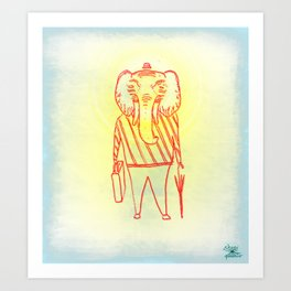 Elephant Dad Art Print