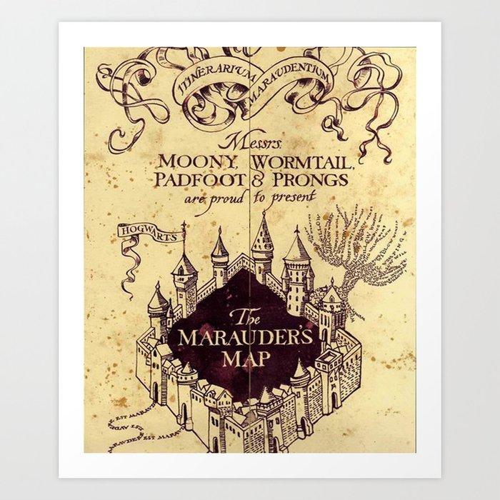 Castle, The Marauders Map Art Print by kizarustore   Society6