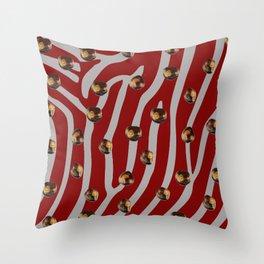 Scarlet & Gray buckeye for leggings Throw Pillow