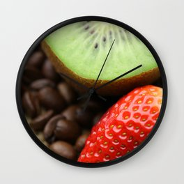 Coffee beans Kivi Strawberry Wall Clock