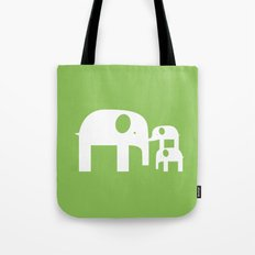 Green Elephants Tote Bag