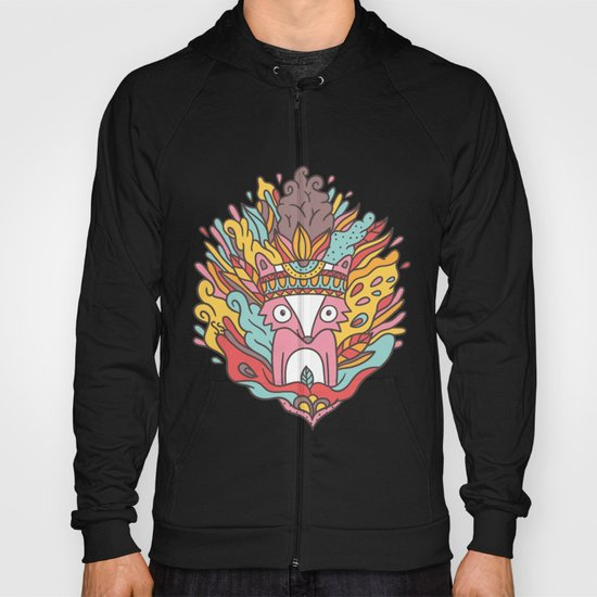 Abstract Raccoon Hoody