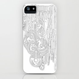 Happy Five Yen Coins - Line Art iPhone Case