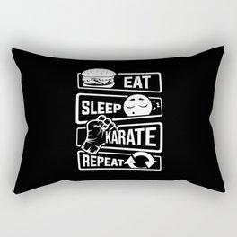 Eat Sleep Karate Repeat - Martial Arts Defence Rectangular Pillow