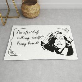 Don't bore Greta Garbo! Rug