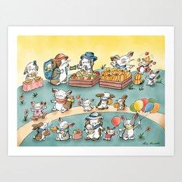 The Farmers Market Art Print