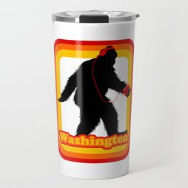 Retro Sasquatch Washington Travel Mug