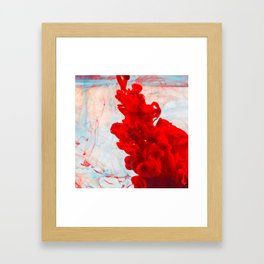 Red Ink Flow, What Does Your Subconscious Mind See? Framed Art Print