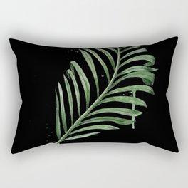 Black Palm Leaf Rectangular Pillow