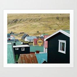 Faroe Islands 35mm K Portra #2 Art Print