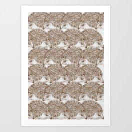 Hedgehog Cluster Art Print