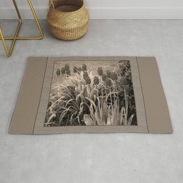 old timey tulips (square) Rug