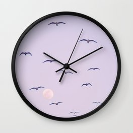 Seagulls & Moon by Murray Bolesta Wall Clock