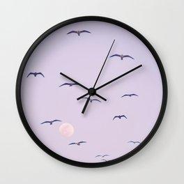 Seagulls & Moon by Murray Bolesta Wall Clock