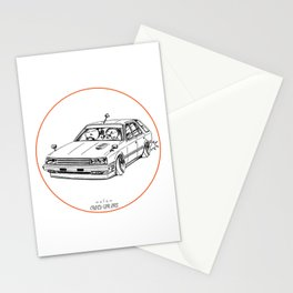 Crazy Car Art 0213 Stationery Cards