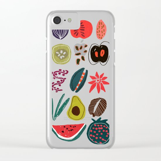 Fruit and Spice Rack Clear iPhone Case