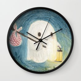 Little ghost in the night Wall Clock