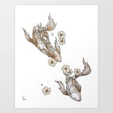 Mechanical Koi Art Print