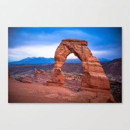 Delicate - Delicate Arch Glows on Rainy Day in Utah Desert Canvas Print
