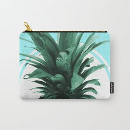 Pineapple Print - Tropical Wall Art - Botanical Print - Pineapple Poster - Blue - Minimal, Modern Carry-All Pouch