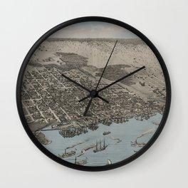 Jacksonville, Florida 1876 Wall Clock