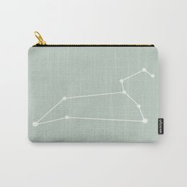 Leo Zodiac Constellation - Sage Carry-All Pouch