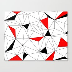 Geo - red, black and white Canvas Print