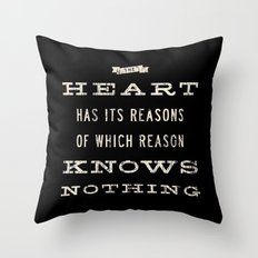 The Heart Quote Throw Pillow