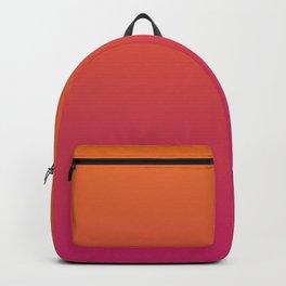 Pink Orange Red Gradient Pattern Backpack