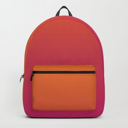 Pink Orange Red Gradient Pattern Backpack