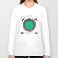 the hobbit Long Sleeve T-shirts featuring There lived a hobbit by Cécile Pellerin
