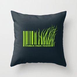 Reduce, reuse, recycle Throw Pillow