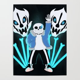 Sans the Skeleton Poster