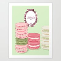 macarons Art Prints featuring Macarons by Silbox