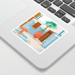 Moroccan Villa #painting #illustration Sticker