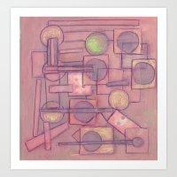 Itinerant Musician Art Print