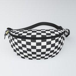 op art - black and white checks bulge Fanny Pack