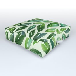 Spring Leaf Mandala Outdoor Floor Cushion