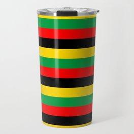 Biafra Mozambique Zambia flag stripes Travel Mug