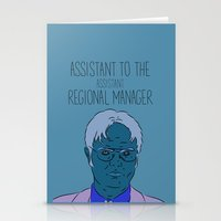 dwight schrute Stationery Cards featuring Dwight Schrute by The Two Pens