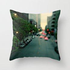 Neon Summer Throw Pillow