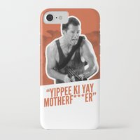 die hard iPhone & iPod Cases featuring Badass 80's Action Movie Quotes - Die Hard by Casa del Kables