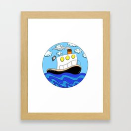 Rub N Tugboat- BEAR Framed Art Print