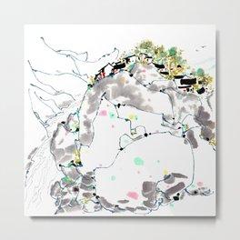 Wu Guanzhong 'Small Village Scene' - 吴冠中 山村小景 Metal Print