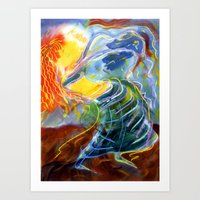 The Long Sleeved Dancer Art Print