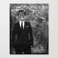 moriarty Canvas Prints featuring Moriarty by Amy K. Nichols