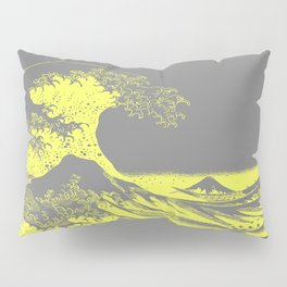 The Great Wave Yellow & Gray Pillow Sham